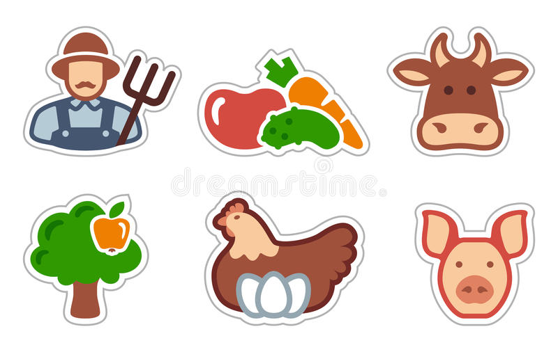 Download Agriculture icons stock vector. Illustration of food - 23515079