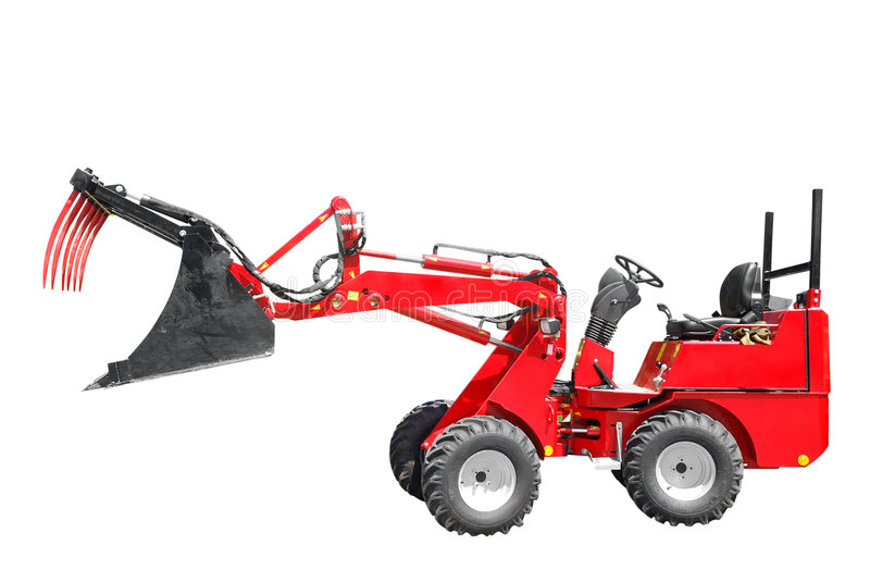 Agriculture loader tractor royalty free stock images