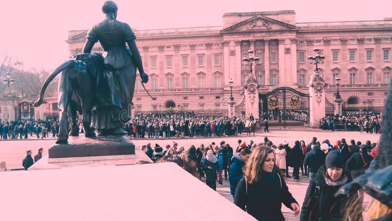 Agriculture statue in Buckingham Palace royalty free stock photos