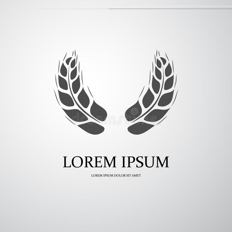 Agriculture symbol. Symbol of cereal plants for agriculture design vector illustration