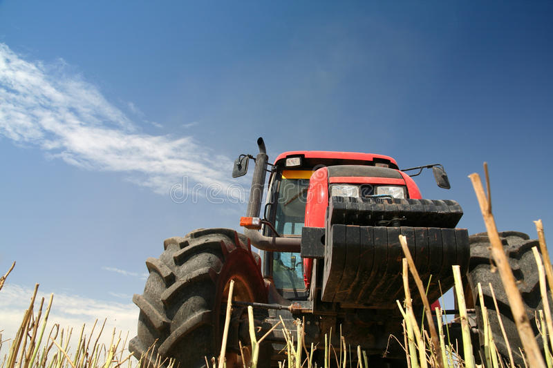 Agriculture - Tractor royalty free stock photo