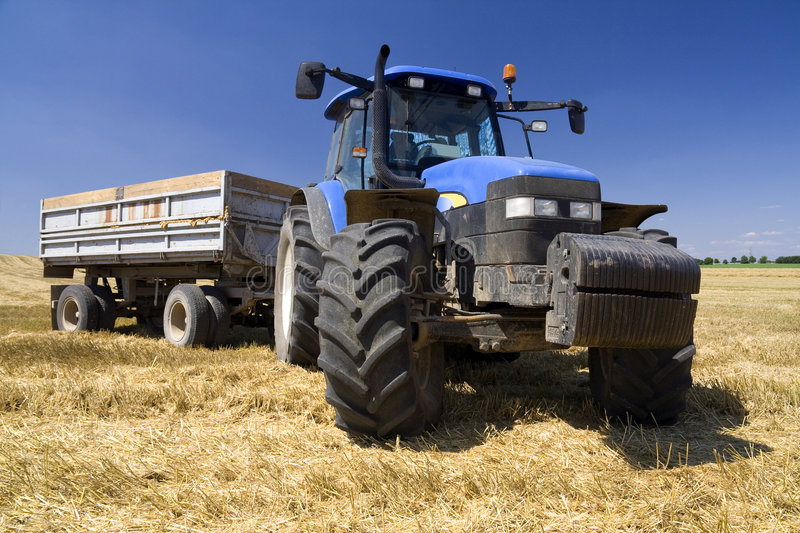 Agriculture - Tractor stock photo