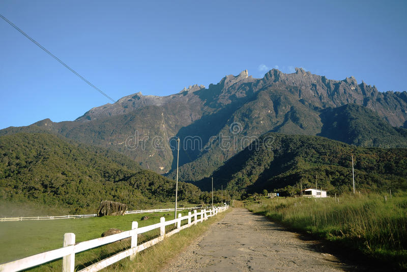 Agriculture valley near Kinabalu Mountain royalty free stock photo