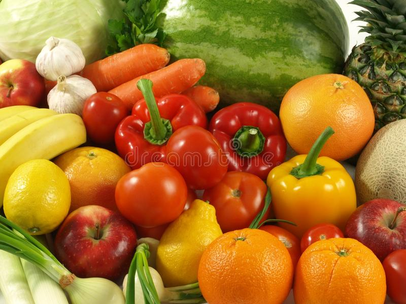 Agriculture - vegetables and fruits stock images