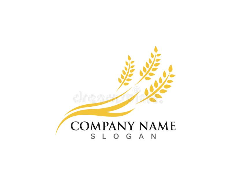 Agriculture wheat Logo Template vector icon design stock illustration