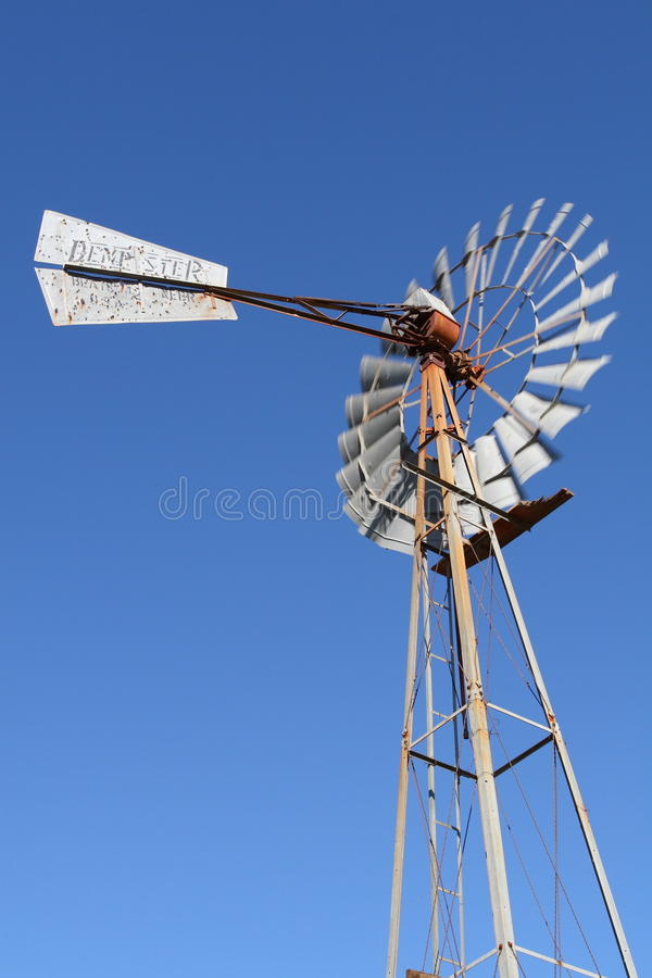 Agriculture windmill stock photo