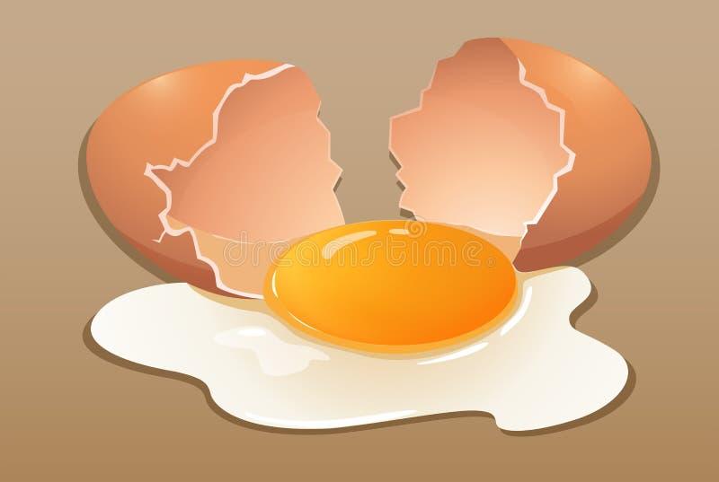 Agrietar el huevo crudo libre illustration