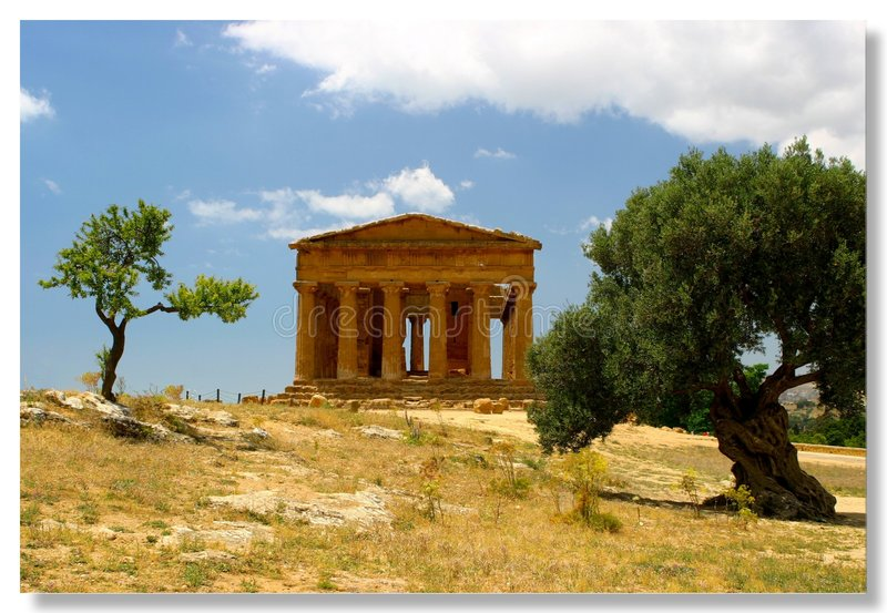 Download Agrigento stock image. Image of sicily, pillar, history, scenery - 9835
