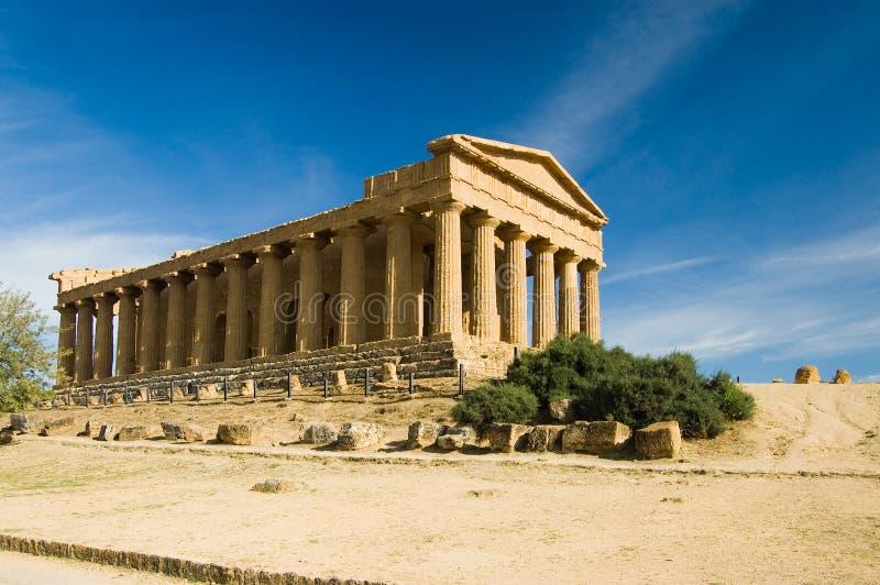 agrigento grekiskt sicily tempel royaltyfri fotografi