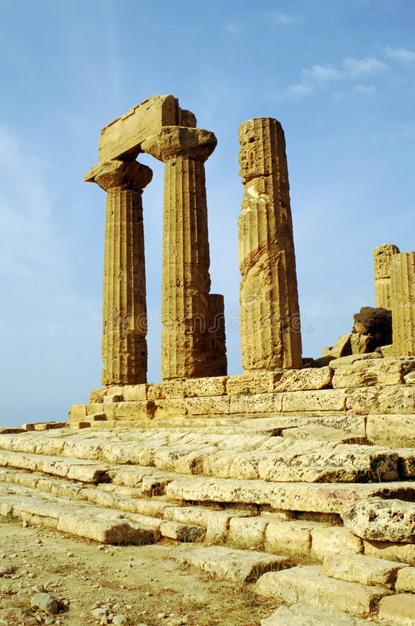 agrigento heracles temple obrazy stock