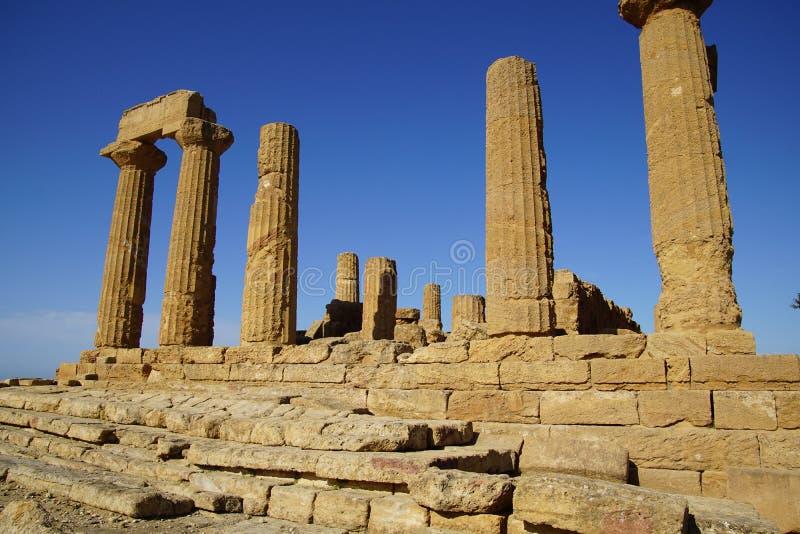 Agrigento Sicilien, Italien, dal av templen royaltyfria bilder