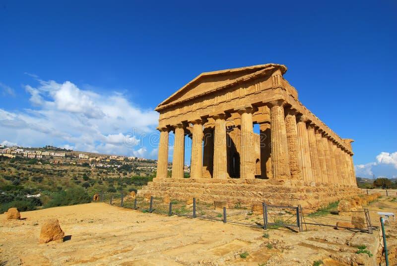 Agrigento/templo grego de Concordia fotos de stock