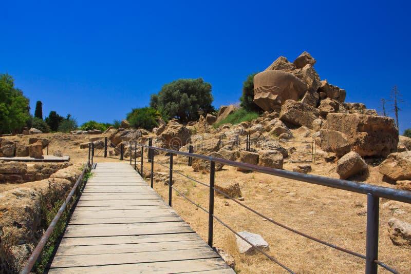 Agrigento - valle de los templos fotografía de archivo libre de regalías