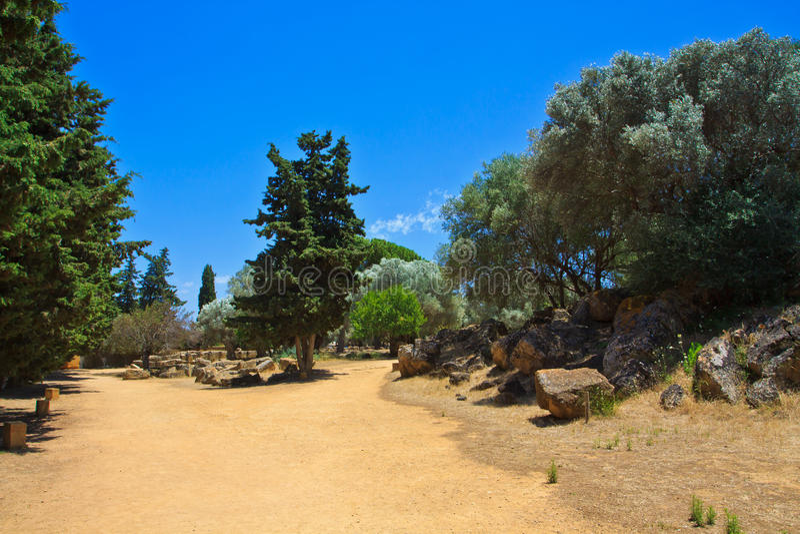 Agrigento - valle de los templos foto de archivo libre de regalías