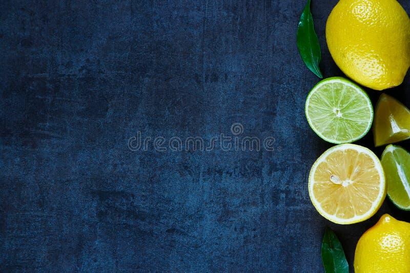 Agrios con las hojas imagen de archivo
