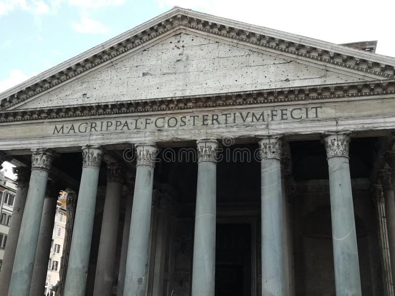 Agrippas panteon i Rome, Italien royaltyfri bild