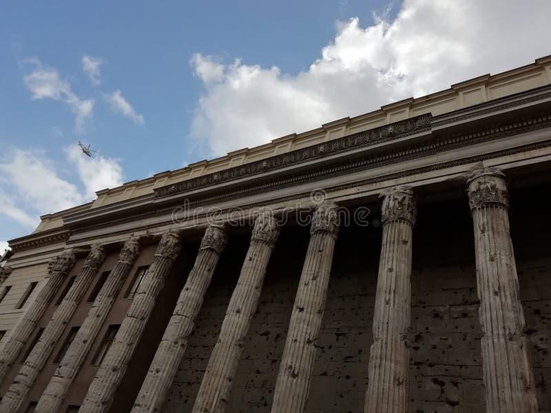 Agrippas panteon i Rome, Italien arkivbild