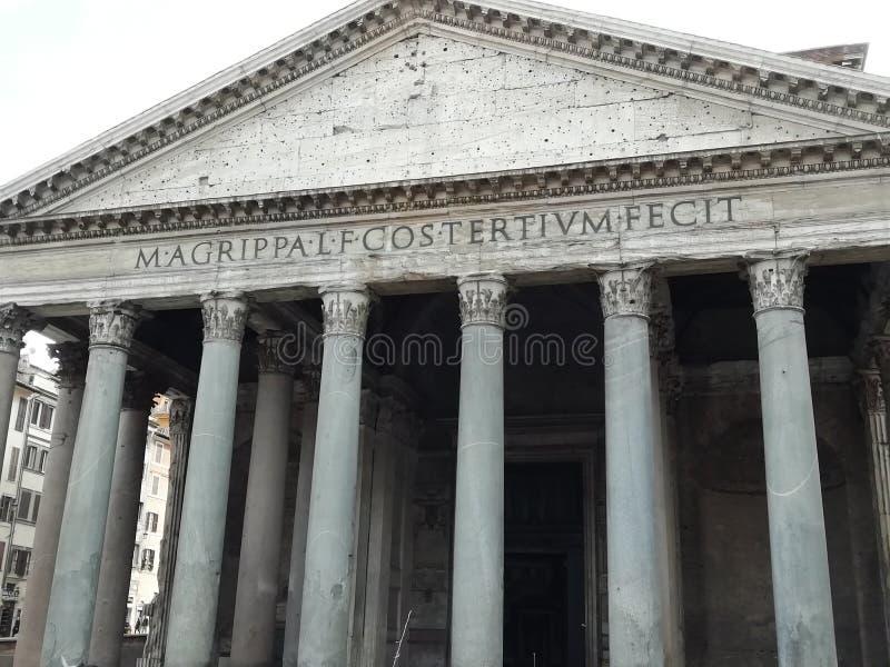 Agrippas panteon i Rome, Italien royaltyfri foto