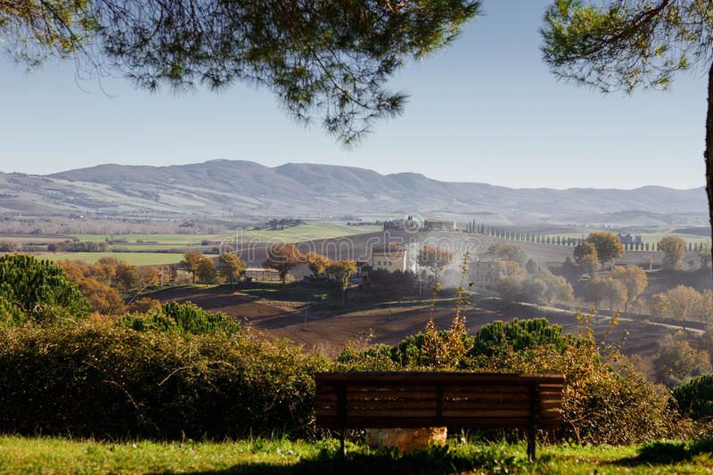 Agriturismo in Italy. Beautiful view royalty free stock photos