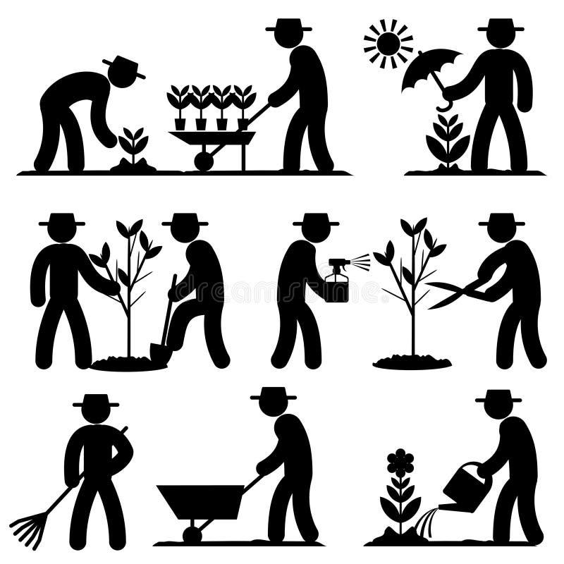 Agro icônes de personnes illustration de vecteur