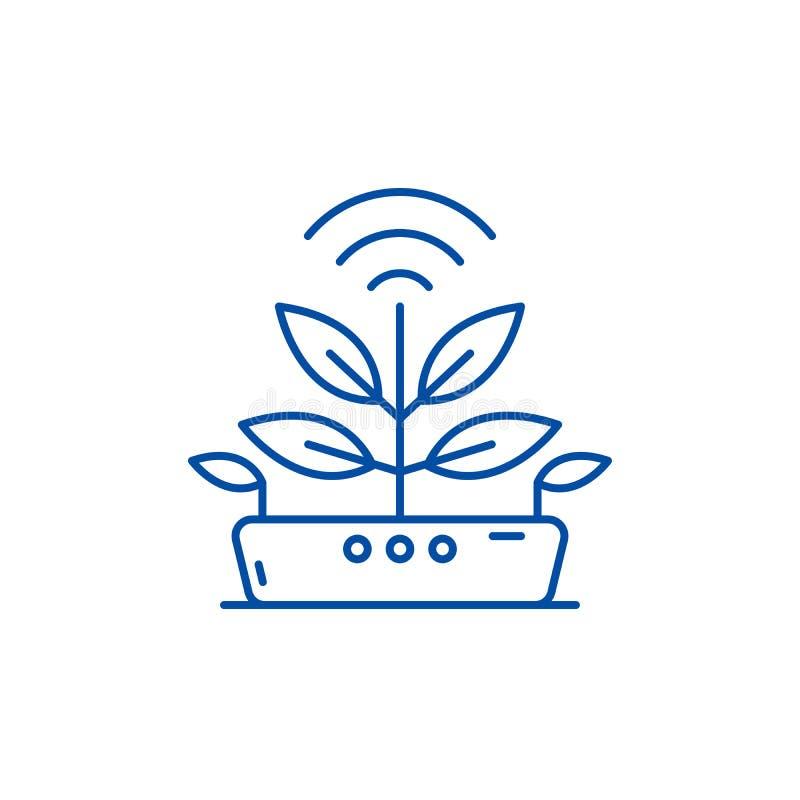 Agro technologii linii ikony pojęcie Agro technologii płaski wektorowy symbol, znak, kontur ilustracja ilustracja wektor