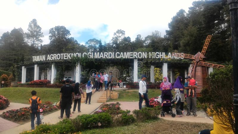 Agro Technology Park in MARDI Cameron Highlands Malaysia. royalty free stock photos