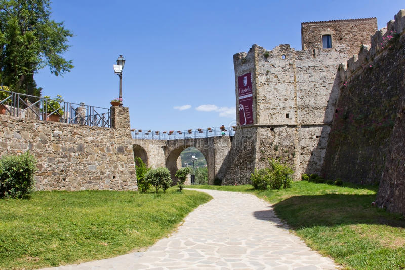 Agropoli Aragonese Castle stock photo