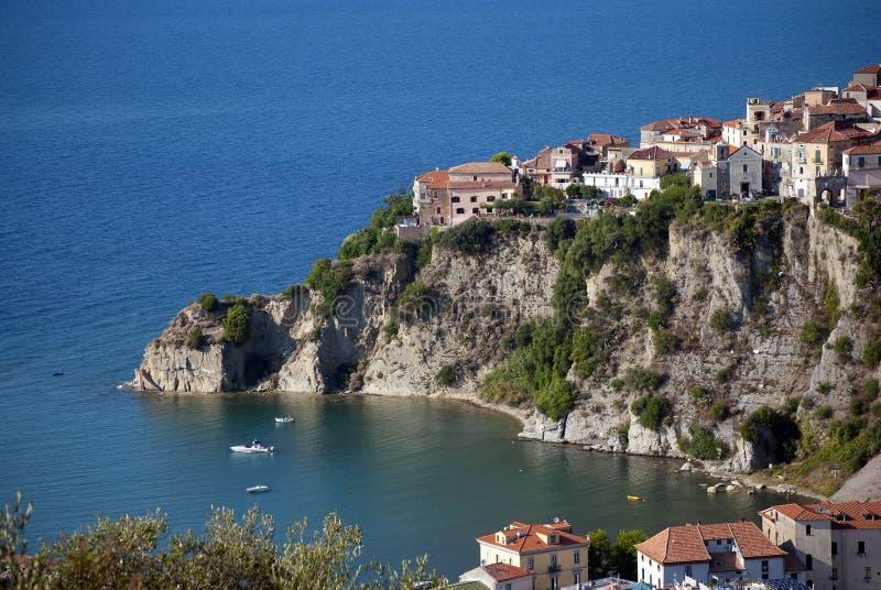 Agropoli City from Cilento Coast Italy royalty free stock photography