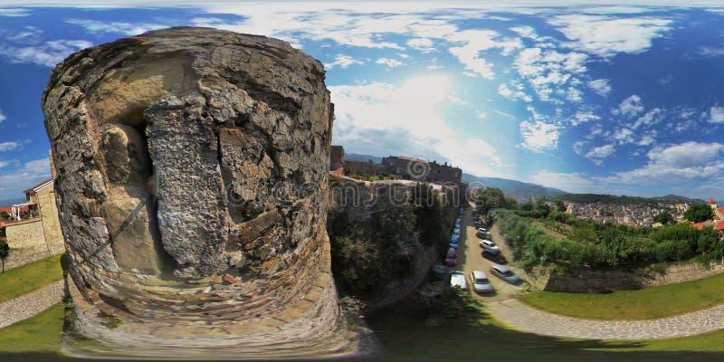 Agropoli - foto esférica do castelo fotografia de stock