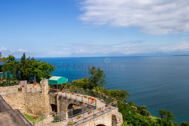 Agropoli, pearl of Cilento, view of the Medieval Castle royalty free stock photos