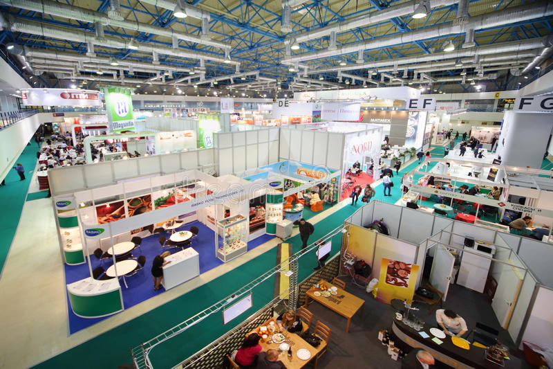 AgroProdMash - commerce international juste pour des machines photo stock