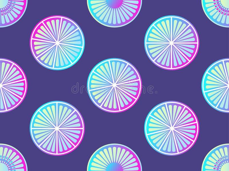 Agrume senza cuciture con la pendenza porpora e rosa Fondo moderno di tendenza Vettore illustrazione di stock