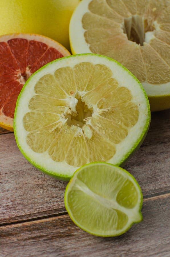 Agrumes orange, citron, pamplemousse, mandarine, chaux photos libres de droits