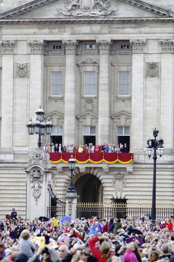 Agrupando-se a cor, Londres 2012 foto de stock