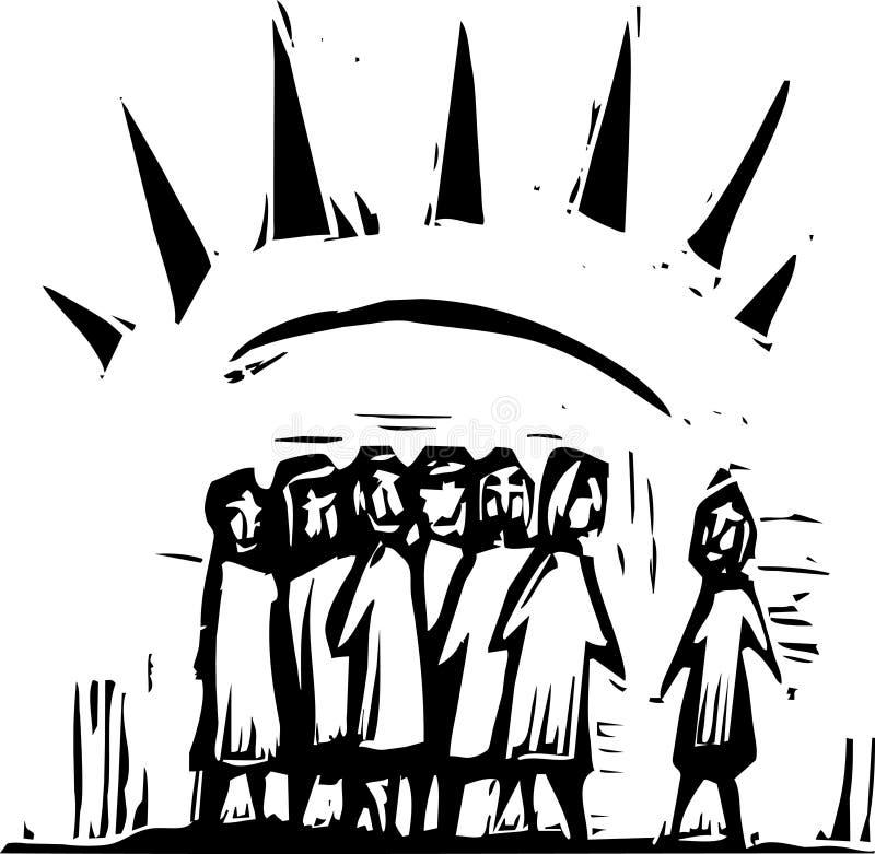 Agrupe com raias #2 ilustração royalty free