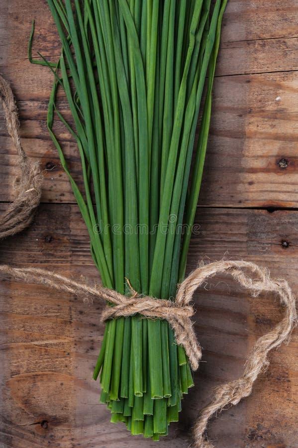 Cebolletas de la cebolla verde del manojo fotografía de archivo