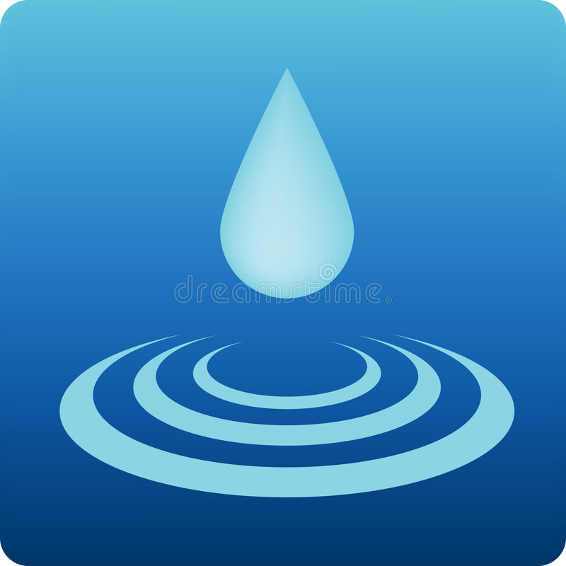 Agua stock de ilustración