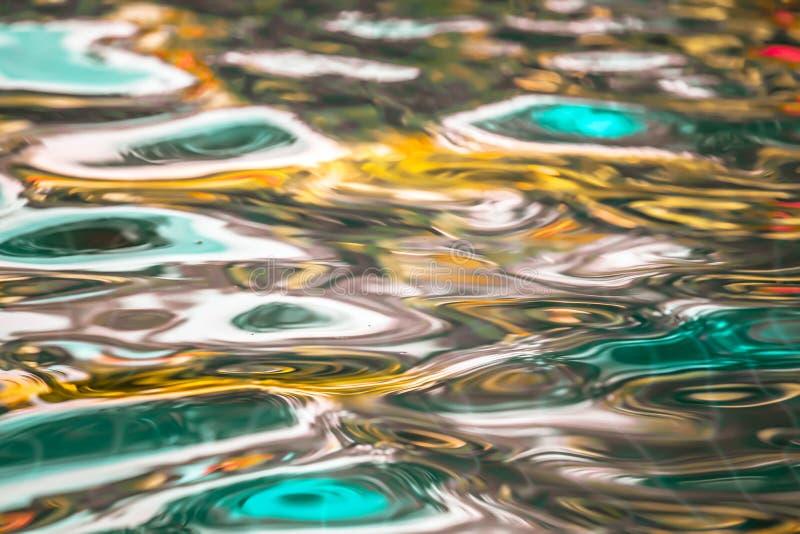 Agua abstracta colorida fotografía de archivo libre de regalías