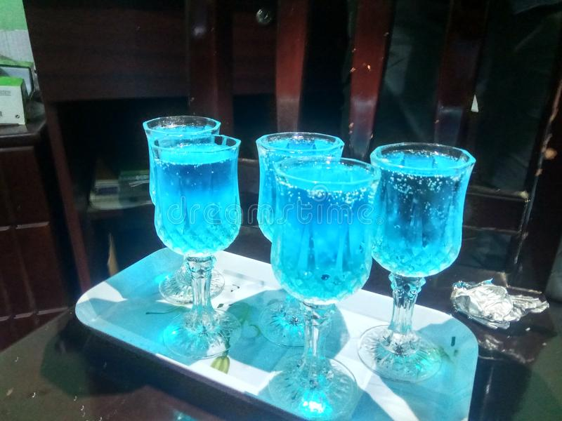 Agua azul fotos de archivo