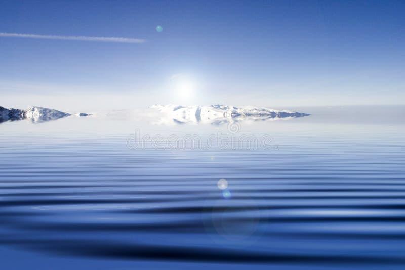 Agua azul. imagen de archivo
