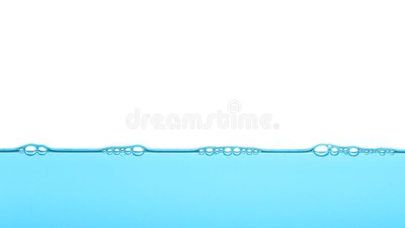 Agua azul profunda, fondo de la textura de la burbuja fotos de archivo