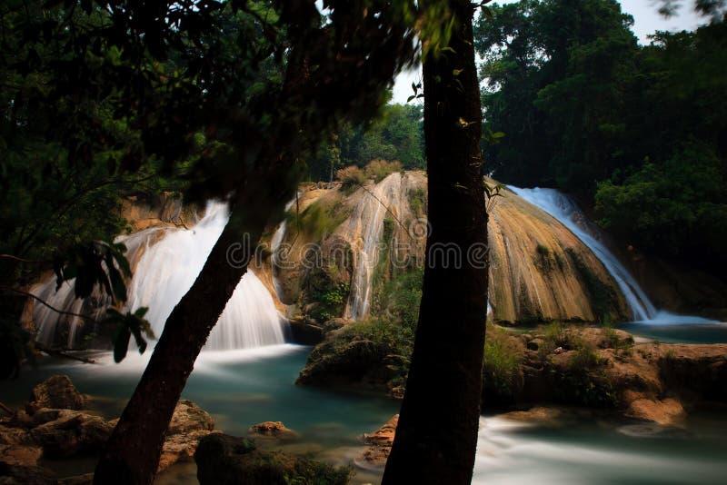 Agua Azul siklawy zdjęcia royalty free