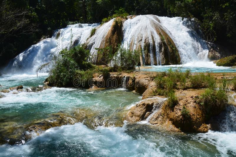 Agua Azul Waterfall Chiapas Mexico royalty-vrije stock afbeeldingen