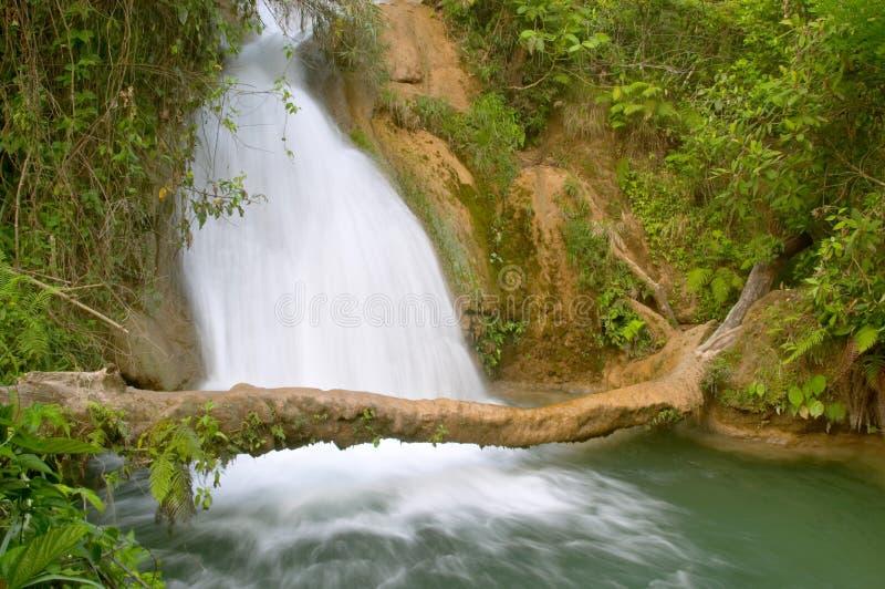 agua azul wodospadu zdjęcie stock