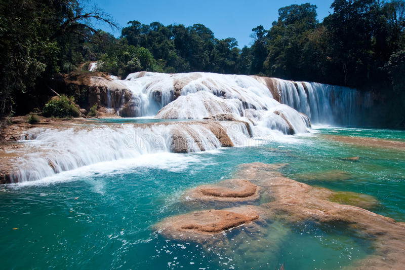 Agua Azules, Palenque, Mexico stock images