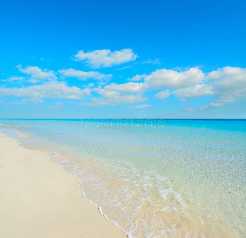 Agua blanca de la arena y de la turquesa fotografía de archivo
