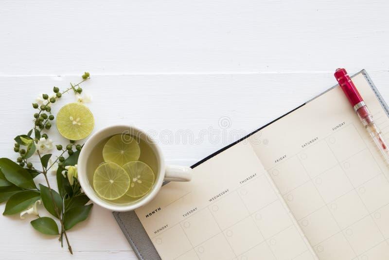 Agua caliente del cóctel del limón de la miel de las bebidas sanas herbarias imágenes de archivo libres de regalías