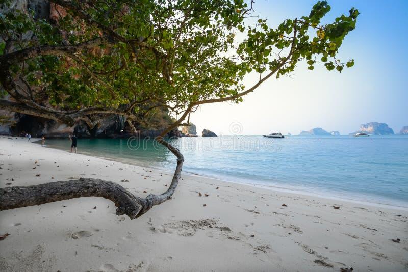 Agua clara y cielo azul Playa en la provincia de Krabi, Tailandia foto de archivo