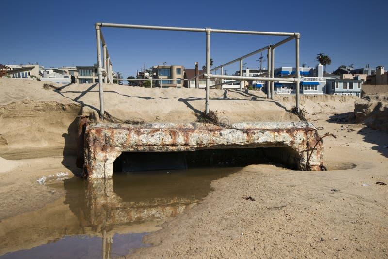 Agua contaminada de Darin de la tormenta fotografía de archivo libre de regalías