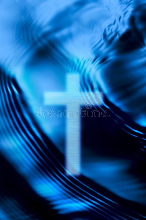 Agua cruzada del cristianismo fotos de archivo